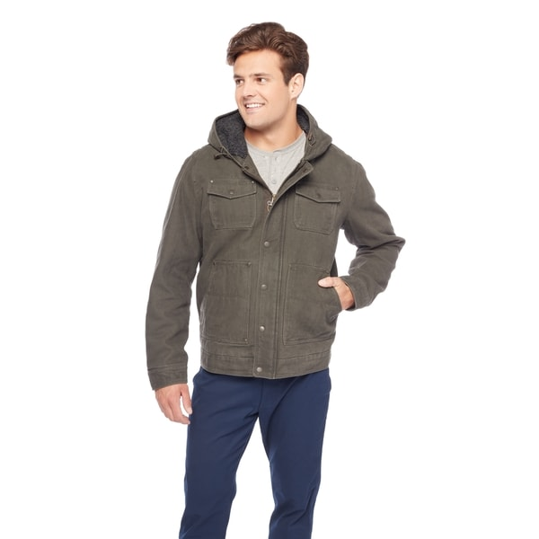 GH Bass Men's Sherpa Lined Hoodie Jacket 27252510