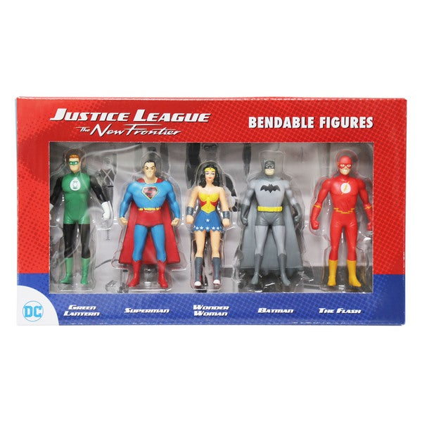DC Comics - Justice League The New Frontier Mini Bendable 5 Piece Figure Set 27257150
