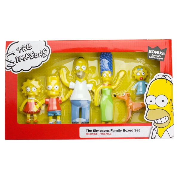 The Simpsons Family Bendable Figures Set 27257164