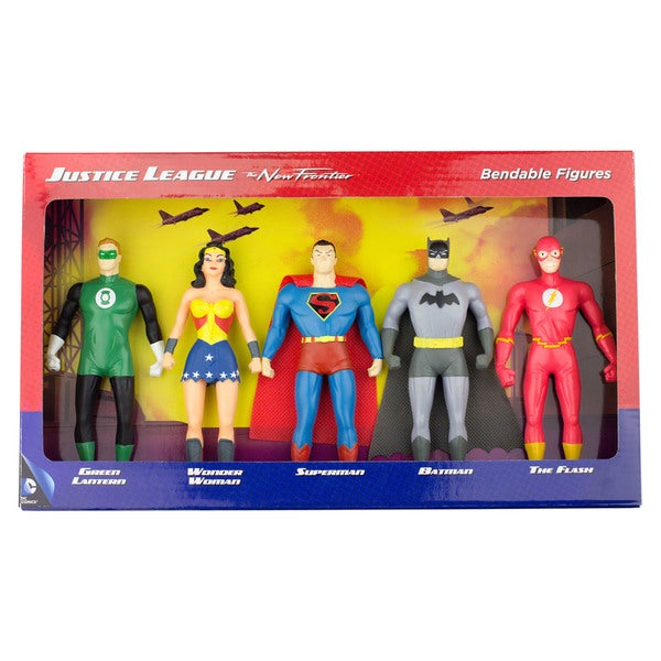 DC Comics Justice League: The New Frontier 5-Piece Bendable Figure Set: Green Lantern, Wonder Woman, Superman, Batman, The Flash 27257184