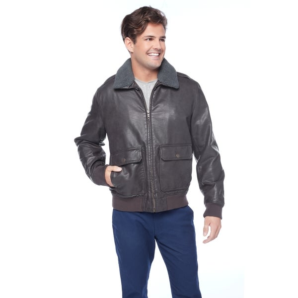 Tommy Hilfiger Men's Bomber Jacket with Removable Sherpa Collar 27257429