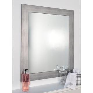 Silvertone Brushed NIckel Wall Mirror - Silver