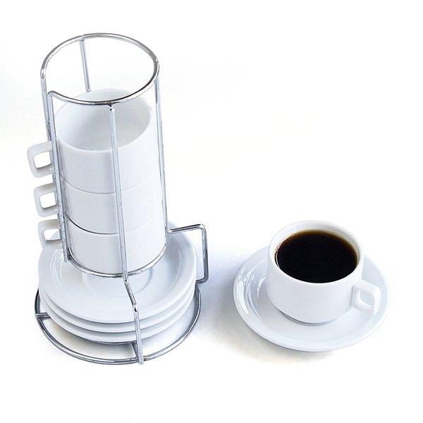 Harold Import 9 Piece Stackable Porcelain Demi Cup & Saucer Set 27278304