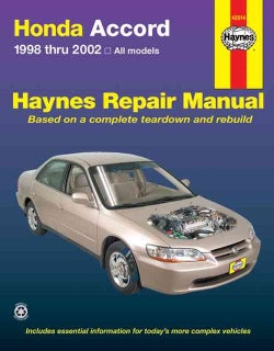 Honda Accord 1998 Thru 2002: All Models (Paperback)