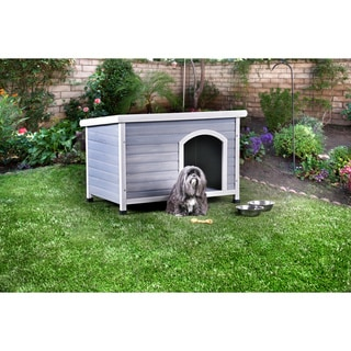 Furniture of America Dyon Contemporary Grey Solid Wood Pet House