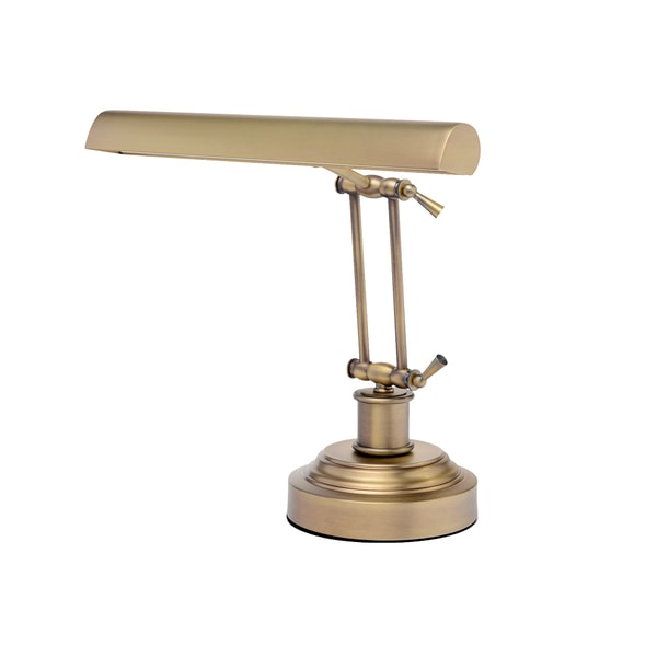 """14"""" LED Piano Desk Lamp with Dimmer - Antique Brass 27296429"""