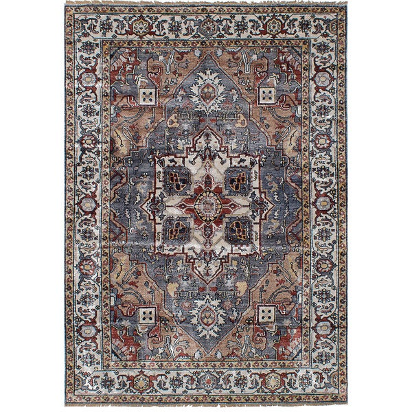 eCarpetGallery Sterling Grey Rayon from Bamboo Silk Hand-knotted Rug (6'1 x 8'10) 27296840