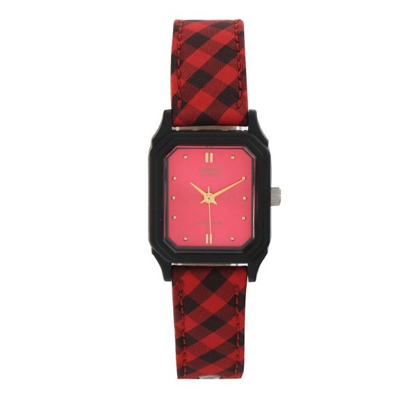 Casio Women's LQ-142LB-4A Red Leather Watch 27297002