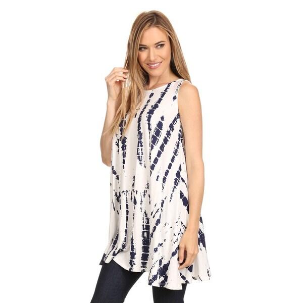 Women's Sleeveless Tie Dye Tunic 27301547