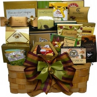 Super Snack Sampler Gourmet Food Gift Basket with Smoked Salmon