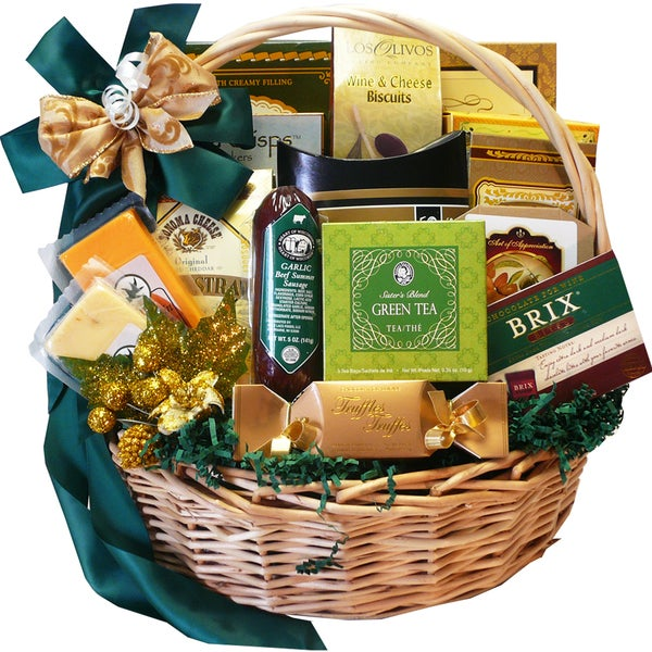 Well Stocked Gourmet Food and Snack Sampler Gift Basket