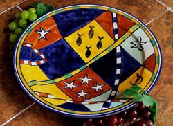 Handcrafted African 10-in. Ceramic Plate (Morocco)