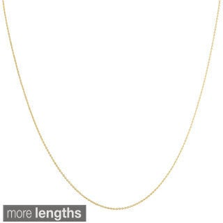 Fremada 14k Yellow Gold 0.7 mm Rolo Necklace (16-18 inch)