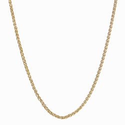 Fremada 14k Yellow Gold Wheat Necklace (18-inch)