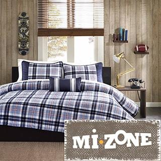 Mi Zone Alton Plaid 4-piece Duvet Cover Set