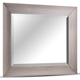 American Art Decor Leighton Rectangular Framed Wall/Vanity Mirror - Brown - A/N