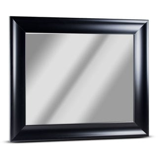 American Art Decor Bentley Medium Rectangular Black Framed Beveled Wall Vanity Mirror - A/N
