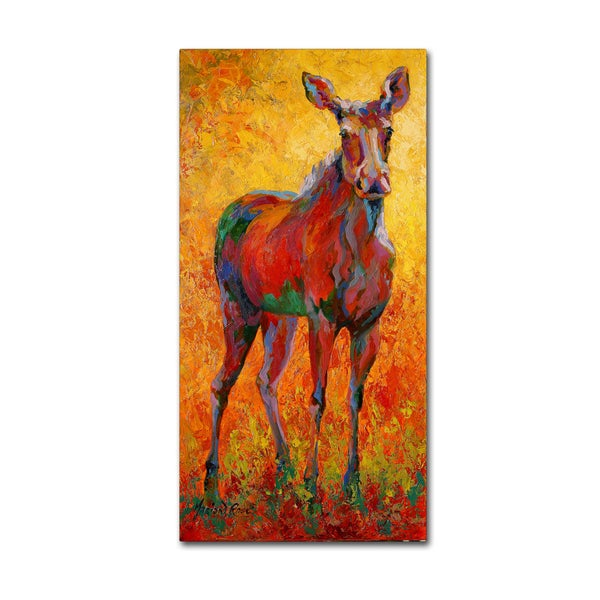 Marion Rose 'Moose (Legs That Go Forever)' Canvas Art 27563927