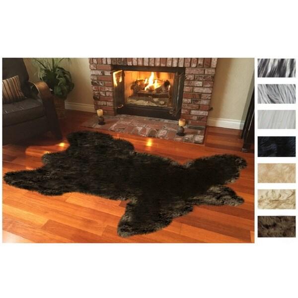 Legacy Faux Fur Animal Skin Shag Rug (4' x 6') - 4' x 6' 27597218
