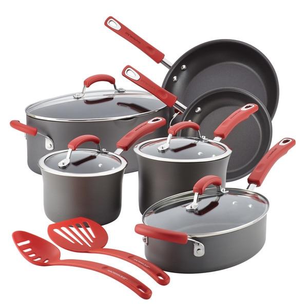 Rachael Ray Hard-Anodized Nonstick 12-Piece Cookware Set 27630417