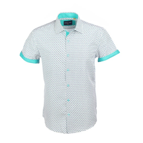Azaro Uomo Men's Short Sleeved Cuff Clink Mint 27630557