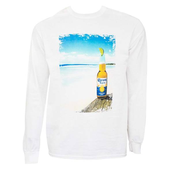 Corona Extra Long Sleeve Beach Tee Shirt 27631458
