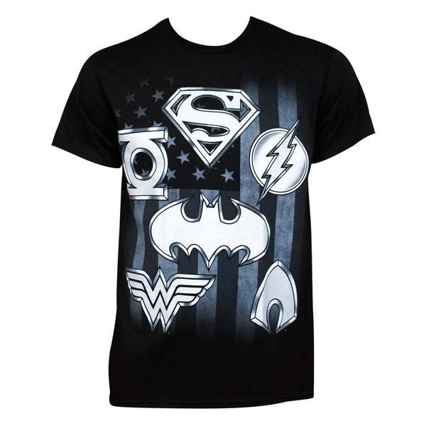 Justice League Superhero Logo Tee Shirt 27631535