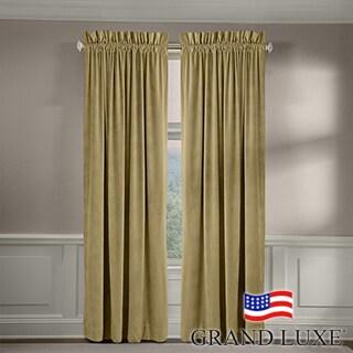 Grand Luxe Velvet Luxury Rod Pocket Window Panel