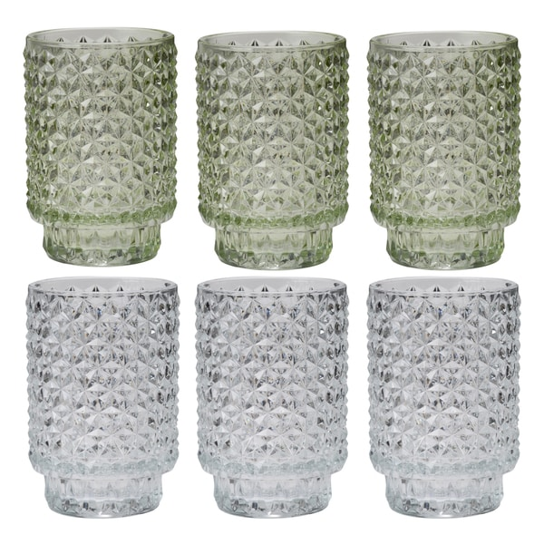 Bubble Glass 5-inch Candle Votives (Set of 6) 27662090