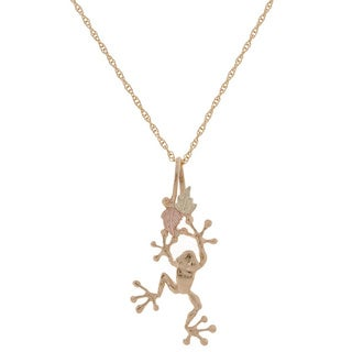 Black Hills Gold Tree Frog Pendant