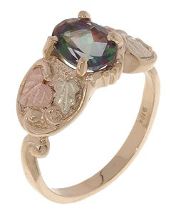 Black Hills Gold Exotic Fire Topaz Ring