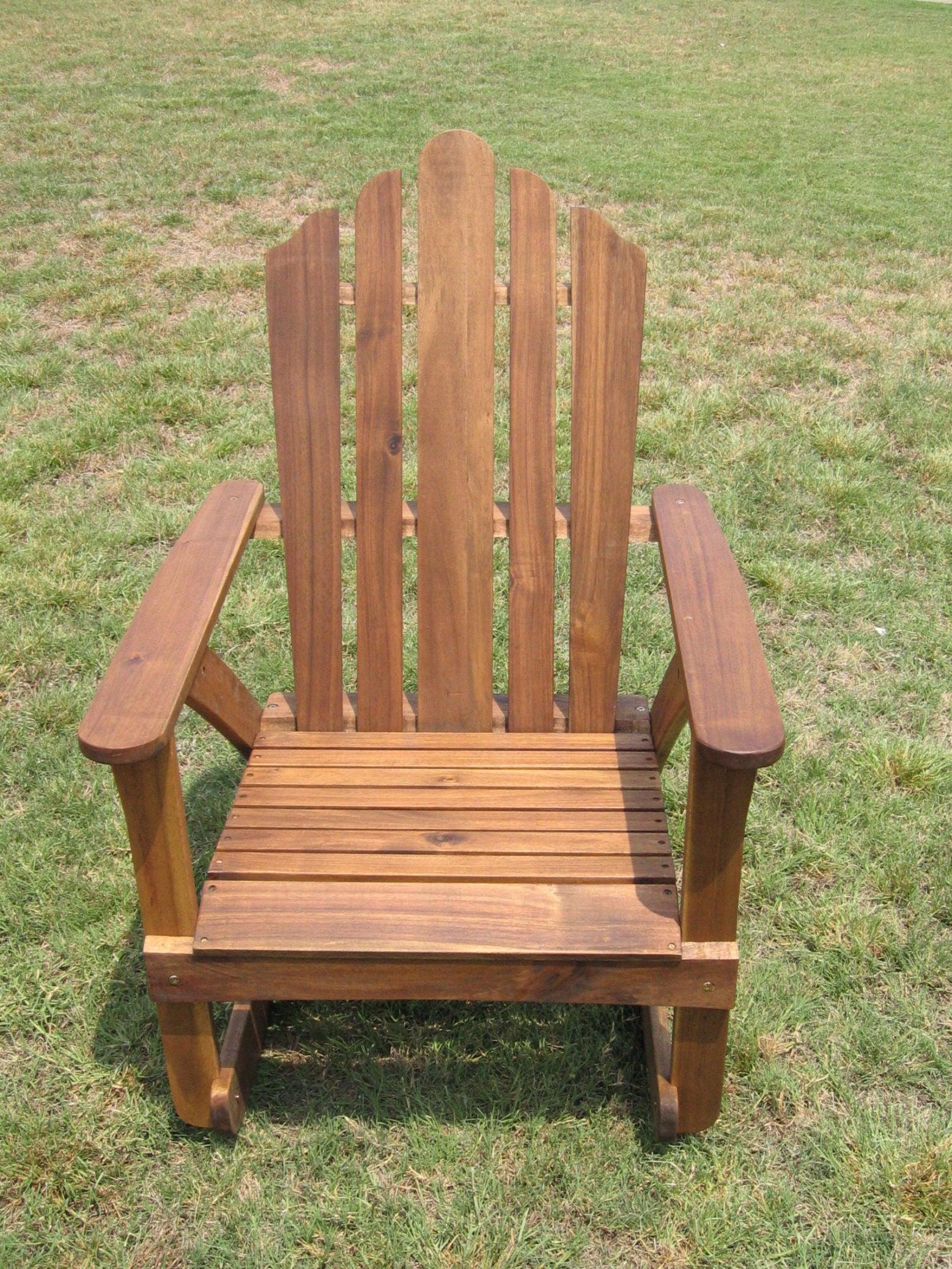 Acacia Adirondack Rocking Chair