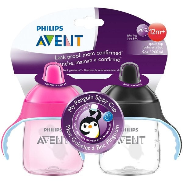 Philips Avent My Penguin Sippy Cup - 9 Ounce - 2 Count - Pink 27673211