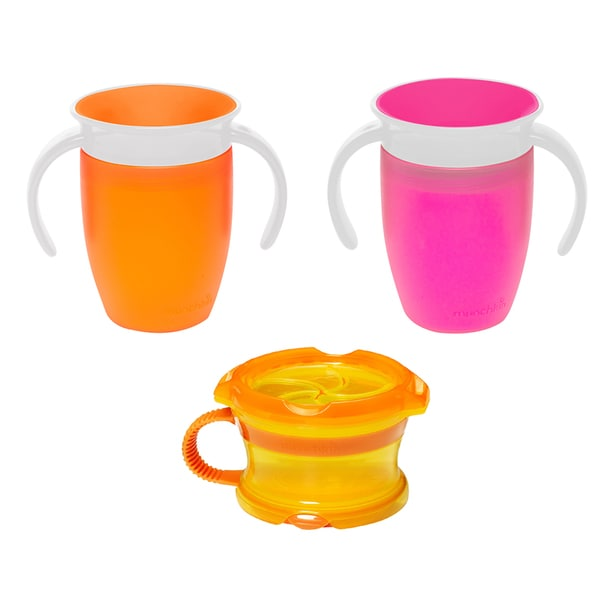 Munchkin Miracle 360 Degree 7 Ounce Trainer Cups with Snack Catcher 27674140