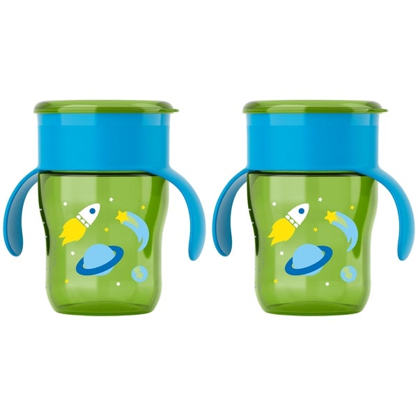 Philips Avent My Natural Drinking Cup - 9 Ounce - Green Rocketship - 2 Pack 27674292