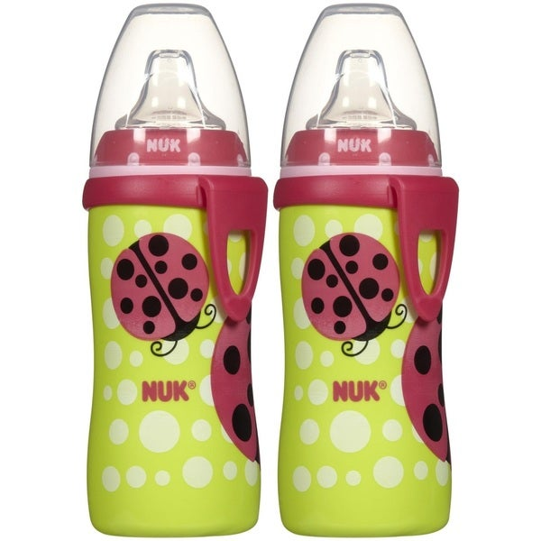 NUK Silicone Active Cup - 10 Ounce - Ladybug - 2 Pack 27674318