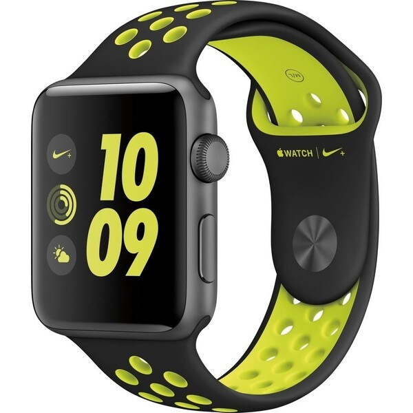 Apple Watch Series 2 Nike+ 42mm - Space Gray Aluminum Case - Black/Volt Nike Sport Band 27674906