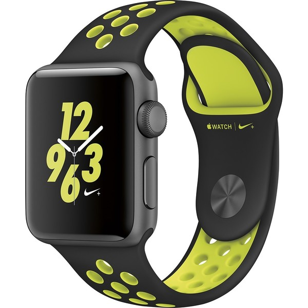 Apple Watch Series 2 Nike+ 38mm - Space Gray Aluminum Case - Black/Volt Nike Sport Band 27674907