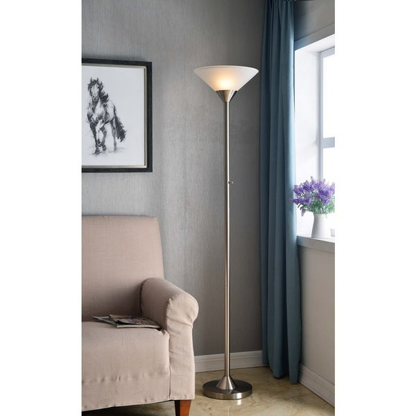 Harris Brushed Steel Torchiere