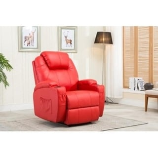 Mcombo Recliner Media Armchair Loung Chair w/Cup Holder 27681931