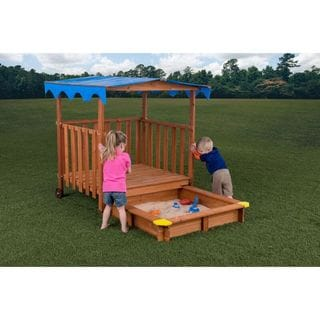 Creative Cedar Designs Sand N Shade Sandbox & Playhouse