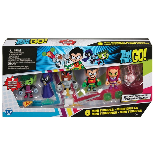 "Teen Titans Go! 2"" Mini Action Figures 6 pack 27691243"