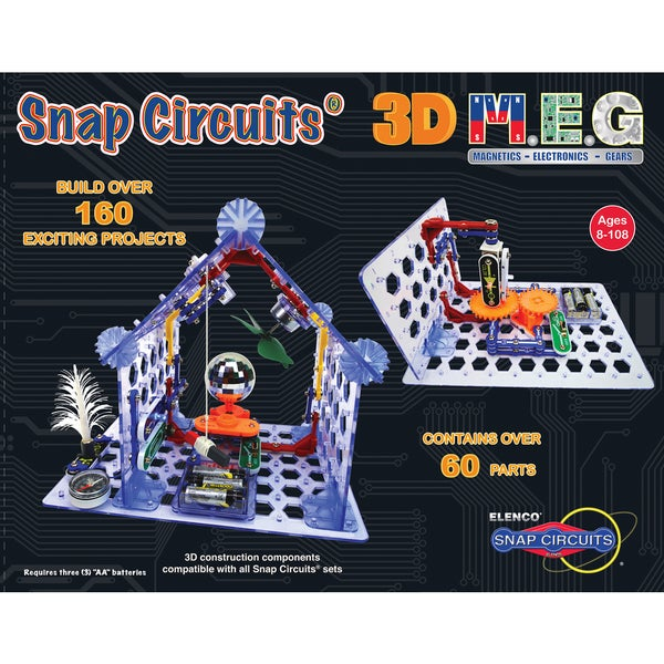 Elenco Snap Circuits 3D M.E.G. Learning Set 27691285