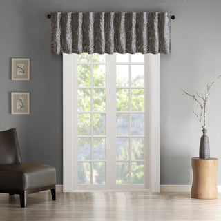 Madison Park Eliza Faux Silk Embroidered Window Valance - 50 x 18""
