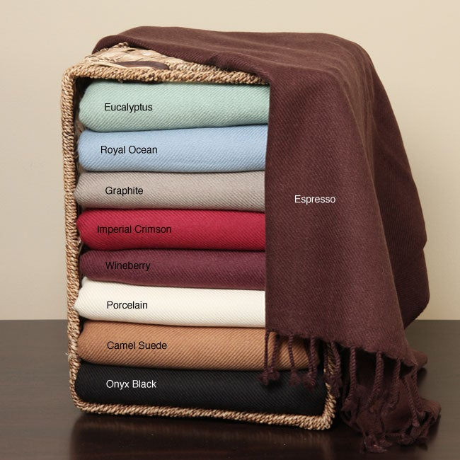 100-percent Cashmere 8-ply Throw