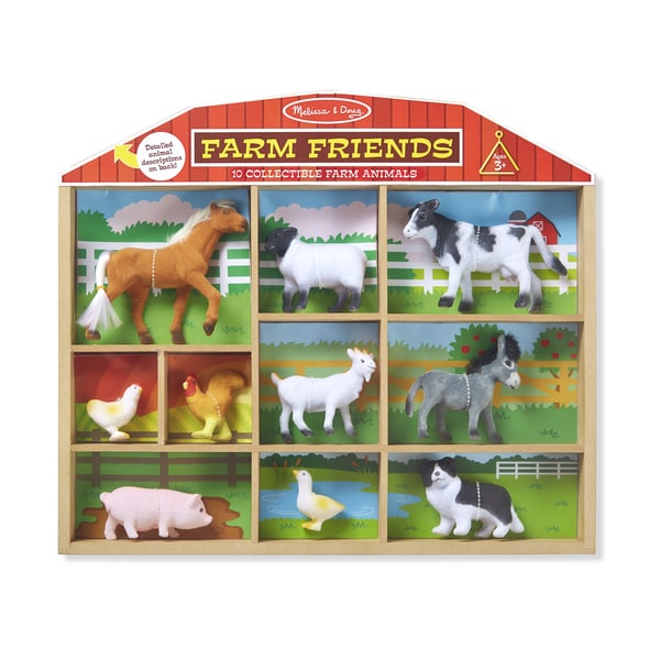 Melissa & Doug Farm Friends 10 Collectible Farm Animals 27735332