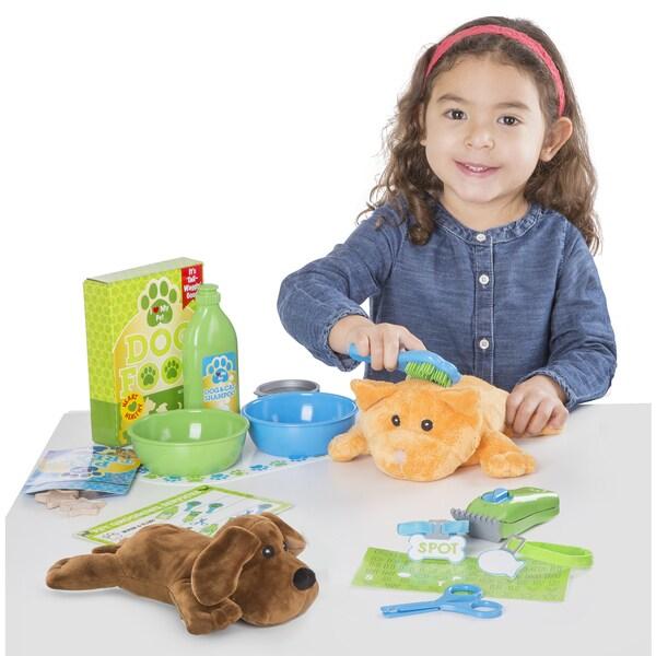 Melissa & Doug Feeding & Grooming Pet Care Play Set 27737492