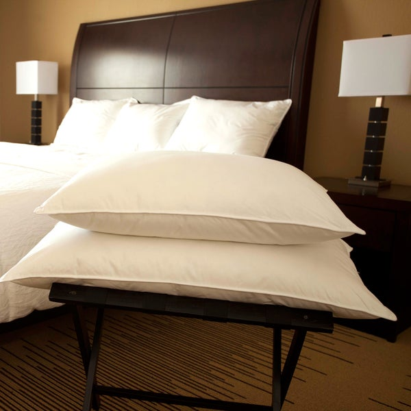 Hotel Style White Goose Down Chamber Pillow - Queen (As Is Item) 27740766
