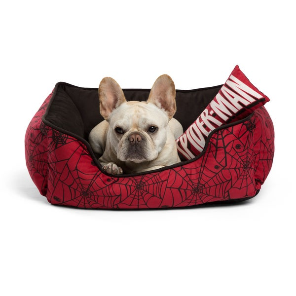 Marvel Spiderman Bumper Dog Bed with Toy Bone 27748867