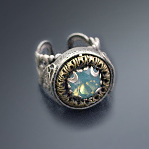 Sweet Romance Vintage Swarovski Element Crystal Circle Jewel Ring 27749851